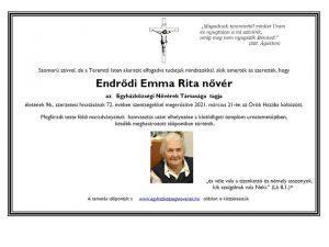 Endrődi E Rita n gyászjel.